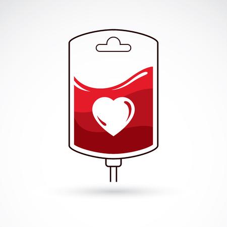 blood transfer: Blood bag illustration.