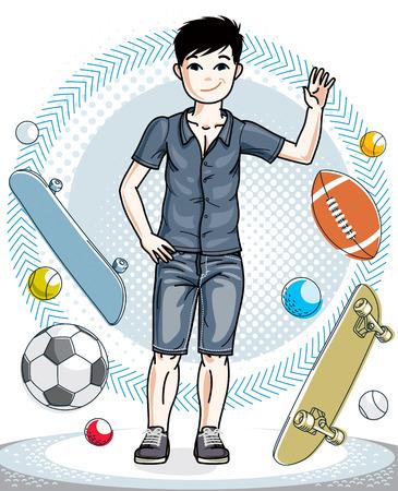 Childhood lifestyle illustration.