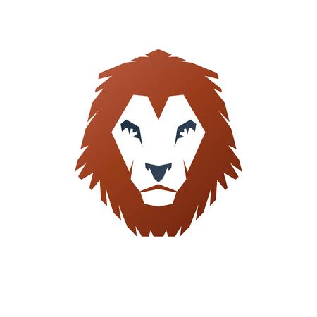 Lion Face heraldic animal element. Heraldic Coat of Arms decorative logo isolated vector illustration.