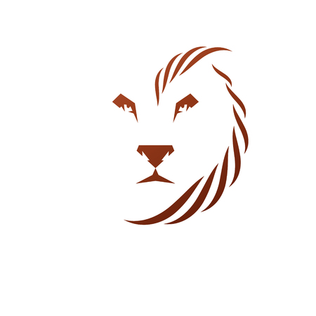 Brave Lion King gezicht embleem dierlijk element. Heraldische Wapenschild decoratieve logo geïsoleerde vector illustratie.