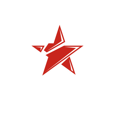Vector star illustration as the symbol of success. Can be used as the interpretation of totalitarianism as the evil power, ideological propaganda.