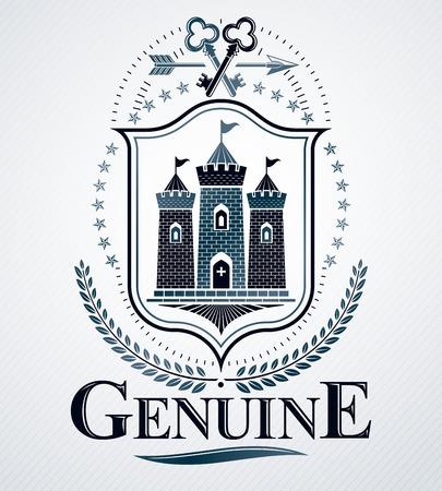 Heraldic coat of arms decorative emblem. Ilustração