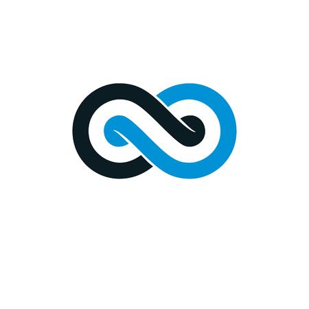 mathematics: Endless Infinity Loop conceptual logo, vector special sign.