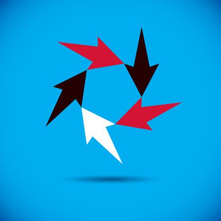 A Vector spread arrow. Business success conceptual logo. Company development trend.
