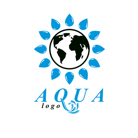 A Vector Blue Clear Water Drop Symbol For Use In Mineral Water