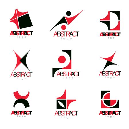 web marketing: Collection of vector conceptual geometric forms. Corporate business development icons.