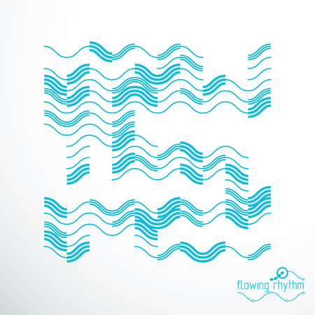 Technological vector wallpaper made with abstract lines. Modern geometric composition can be used as template and layout. Illustration
