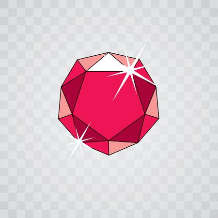 Vector shining gemstone design element, symbol. Luxury diamond icon, illustration. Illustration
