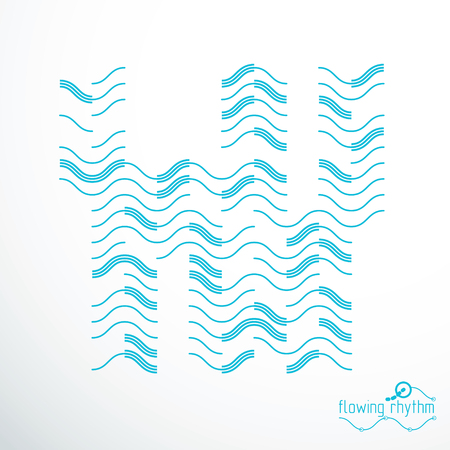 Futuristic abstract vector technology background. Abstract wavy lines pattern, art graphic illustration. Illustration