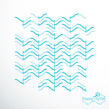 Abstract wavy lines rhythm pattern. Vector technical background, artistic graphic illustration.