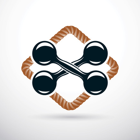 Dumbbell vector illustration, fitness and cross fit sport equipment for healthy lifestyle and fitness workout.