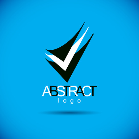 web marketing: Vector abstract geometric shape best for use as creative business logo. Illustration