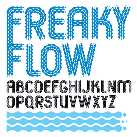 English alphabet letters design collection.