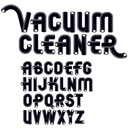 capital modern alphabet letters set. Ilustrace