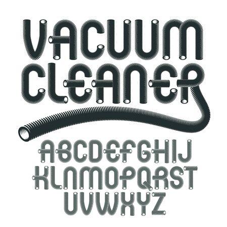 upper case modern alphabet letters set.