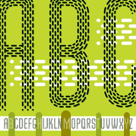 rhythm rhythmic: condensed upper case modern alphabet letters. Illustration