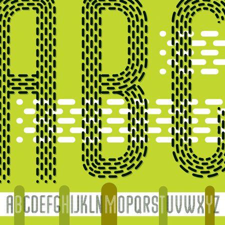 condensed upper case modern alphabet letters. Illustration