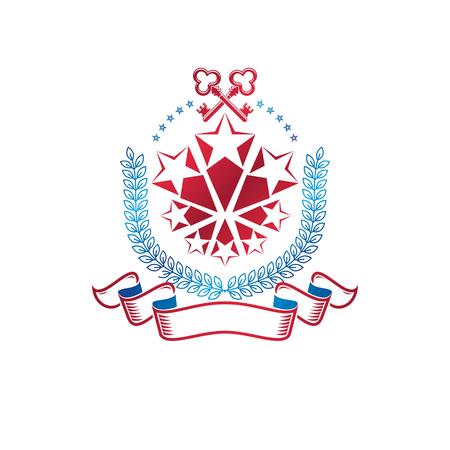 Heraldic emblem design concept.