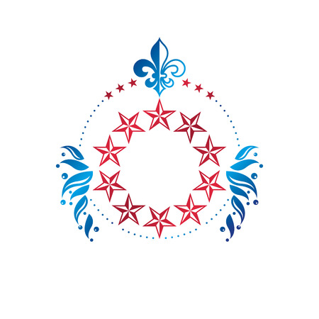 glorious: Heraldic emblem design concept.