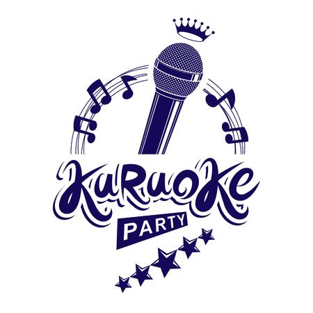 quaver: Karaoke party invitation poster.
