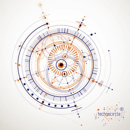Abstract blueprint illustration.
