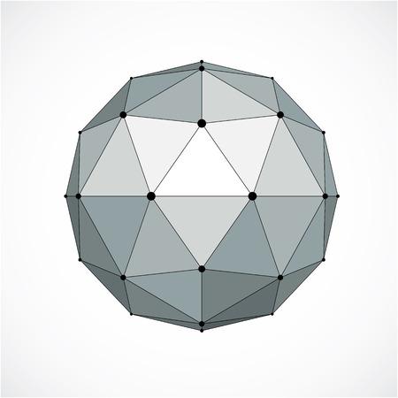 globe grid: Dimensional sphere shape abstract illustration. Illustration