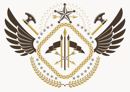 armory: Heraldic emblem design.