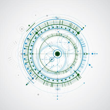 Technical modern blueprint pattern.
