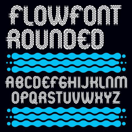 Set of trendy capital alphabet lettering design.
