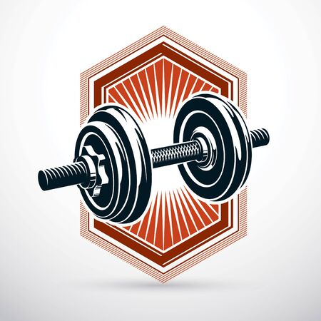 Sport equipment for power lifting and fitness training. Stock Vector - 89081373