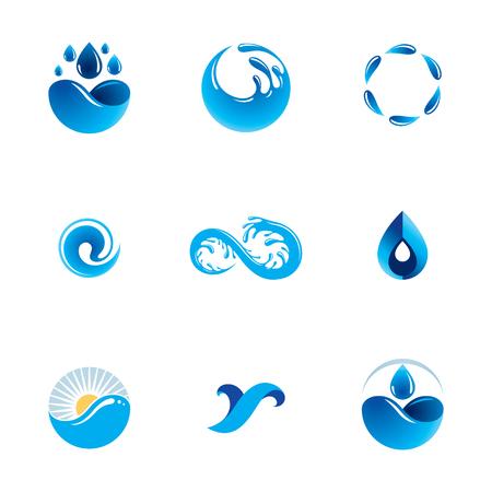 Sea wave splash illustration.