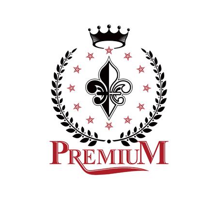 Heraldic insignia design concept.