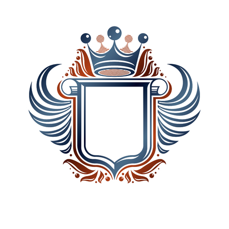 Heraldic concept design emblem. Vettoriali
