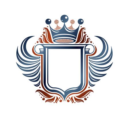 Heraldic concept design emblem. Illustration