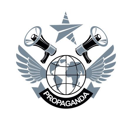 Propaganda icon design.