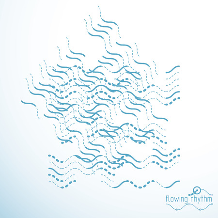 Abstract wavy lines rhythm pattern. Illustration