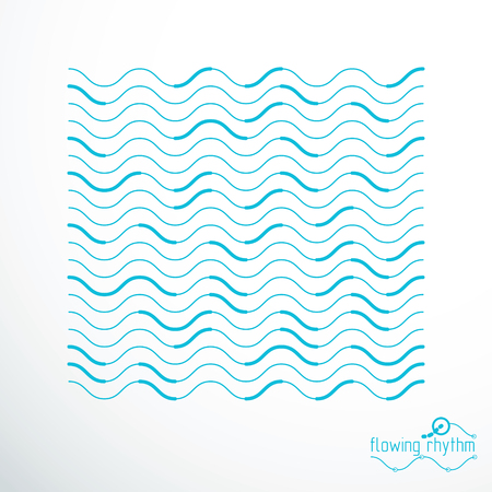 Abstract wavy lines rhythm pattern. Illustration