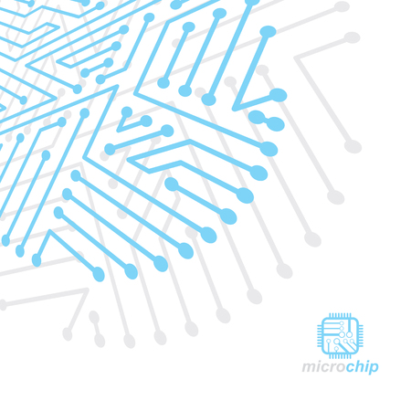 Abstract technology illustration of circuit board. Çizim