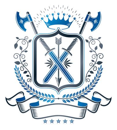 armory: Heraldic insignia design. Illustration