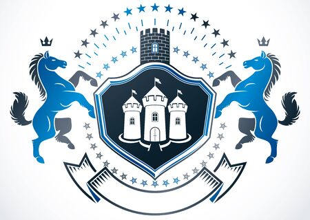 Heraldic emblem design.
