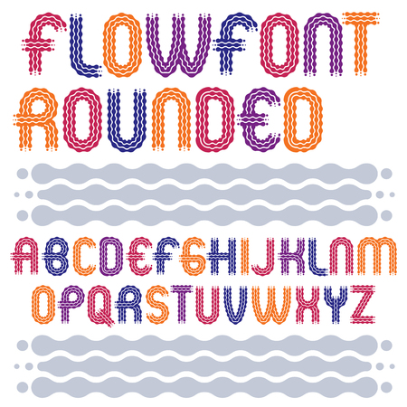 Capital letters font style design. Illustration