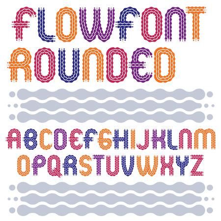 u k: Capital letters font style design. Illustration