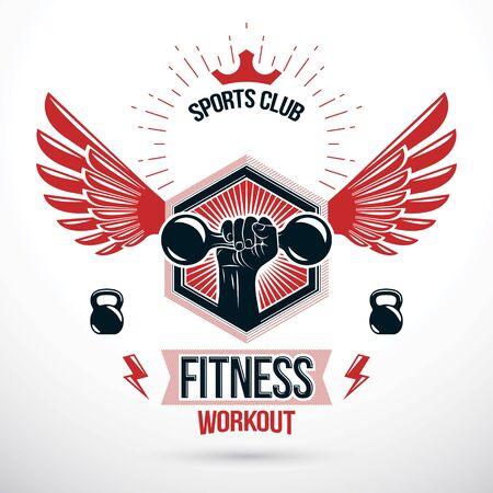 Gym signage design.