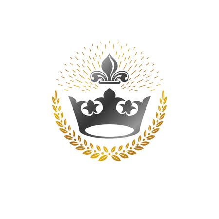 Heraldic decorative emblem design.
