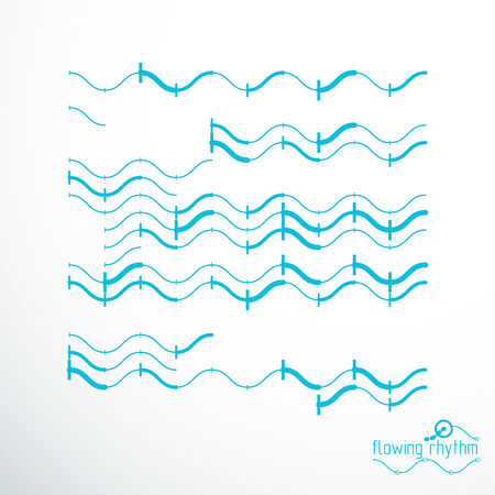 Flowing rhythm abstract wave lines pattern.