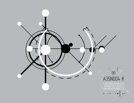 Industrial and engineering illustration. Illustration