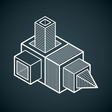 Three-dimensional geometric pattern.