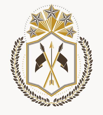 armory: Heraldic emblem design concept.