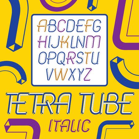 Set of cool vintage upper case English alphabet letters.