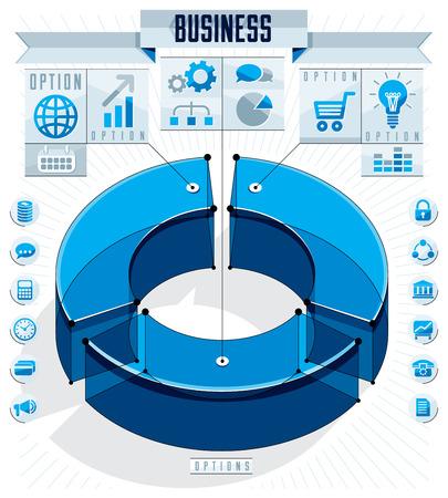 Infographics template design. Illustration